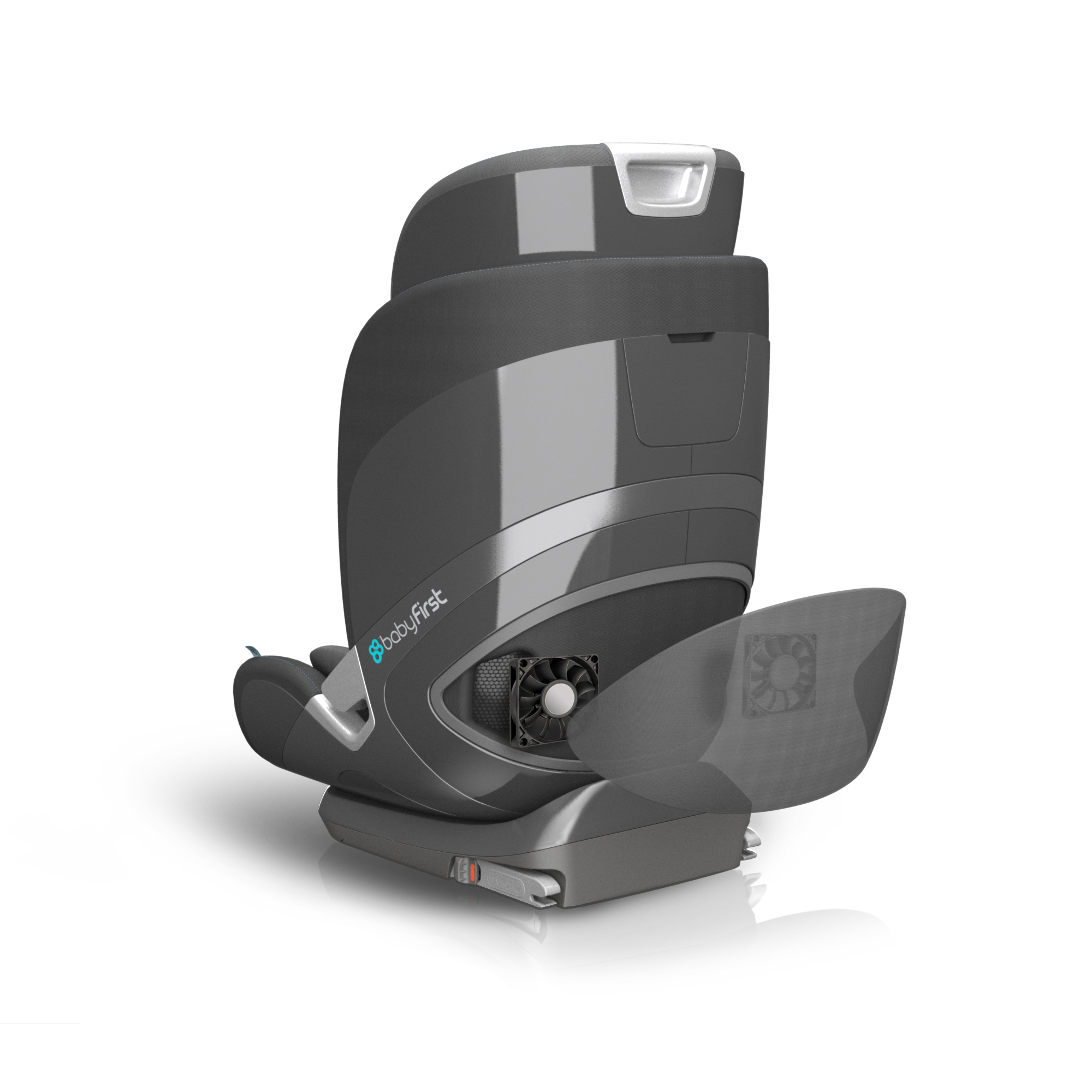 Smart design: baby car seat with sensors and comfortable shapes