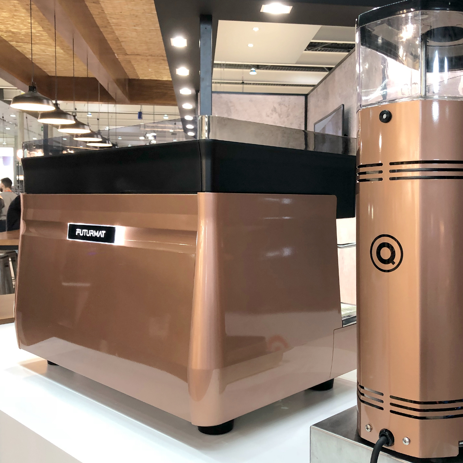 Quality Espresso Futurmat F3 was presented ad Hostelco 2018 with our design